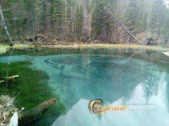 Гейзерово озеро в п.Акташ (республика Алтай)
